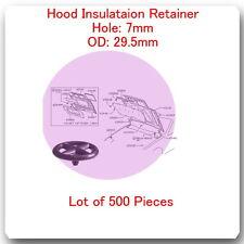 (Lot 500 Pc) Hood Insulation Retainer Hole 7mm OD 29.5mm Fits Infiniti & Nissan