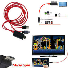 6ft 5P Micro USB MHL to HDMI Cable HDTV for LG Optimus G 4X HD LTE II/Tag 3D Max