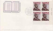 CANADA #661 8¢ ALPHONSE DESJARDINS LR PLATE BLOCK FIRST DAY COVER