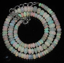 """71 Ctw 1Necklace 3.5to7mm16""""Beads Natural Genuine Ethiopian Welo Fire Opal RR423"""