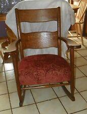 Quartersawn Oak Empire Rocker / Rocking Chair   (R159)