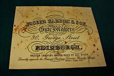 Joseph harkom & Son gunmaker riproduzione carta Gun Case Accessori etichetta