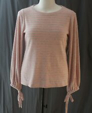 a.n.a., Large Rose Quartz Marbled Stripe Lightweight Top, New with Tags