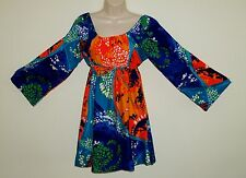 Women's Colorful Dress Boho Hippie Made in Hawaii Size Small Multi Color