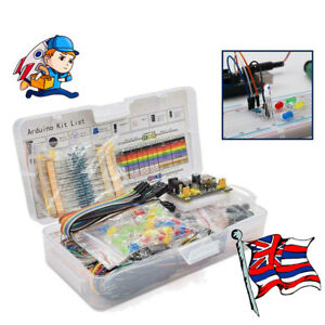Electronic Component Starter Wire Breadboard LED Buzzer Resistor Transistor Kits