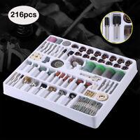 216 Pcs Dremel Rotary Tool Accessories Kit Grinding Polishing Cutting Sanding