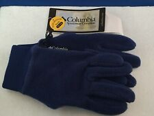Columbia Youth 10-12 Medium Blue Navy Gloves
