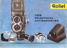1960s ROLLEIFLEX CAMERA ACCESSORIES BROCHURE -ROLLEIMARIN UNDERWATER-ROLLEI