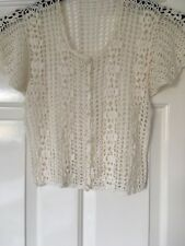 Ladies Crochet Cardigan/Bolero -one Size