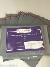 Mailing Bags Postage Poly Plastic Bags Grey 6.5' x 9' (170mm x 230mm) 100