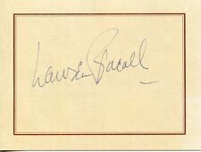 LAUREN BACALL Vintage Original AUTOGRAPH Card Hand Signed RARE Bogart's Wife