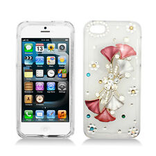 iPhone 5/5S (AT&T, Sprint, Verizon) 3D Full Diamond Hard Case Flower