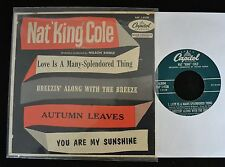 PICTURE SLEEVE EP Nat 'King' Cole Capitol 9128 Love Is a Many-Splendored Thing,