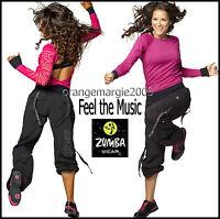 ZUMBA CARGO PANTS DANCE FITNESS Converts Capri-Harrods UK Convention RARE S M L