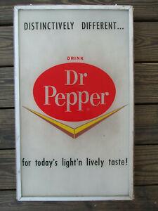 Coca-Cola 1966 Dr Pepper Plastic Vending Machine Insert Sign Chevron