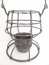 Antique Old Metal Train Railroad Lantern Lamp Body Cage Parts Handle Used