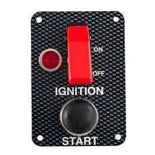 Grayston Carbon Effect Starter Switch Panel With Push Start Button
