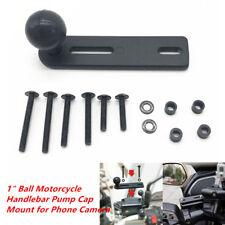 "1""/ 25mm Ball Motorcycle Handlebar Cylinder Pump Cap Mount for Phone Camera Set"