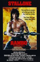 """Movie Collector/'s Poster Print 11/"""" x 17/"""" - B2G1F T2 Rambo lll"""