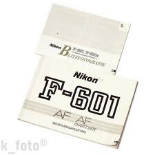 Nikon F-601 Bedienungsanleitung