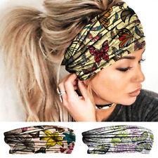 Women Boho Wide Stretch Headband Turban Elastic Sports Yoga Hairband Headwraps