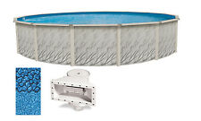 "18'x52"" Ft Round Meadows Above Ground Swimming Pool w/ Boulder Swirl Liner Kit"