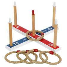 Ring Toss Set Quoits Game Kids & Adults Indoor Outdoor Bbq Lawn Tailgating Party