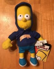 The Simpsons 2007 Bart Simpson In Springfield Hoodie Plush Stuffed Animal 10""