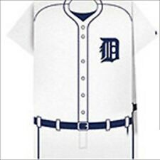 MLB DETROIT TIGERS JERSEY SHAPED NAPKINS (12) ~ Birthday Party Supplies Baseball