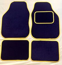 CAR FLOOR MATS FOR VW GOLF POLO BORA PASSAT CC SCIROCCO- BLACK WITH YELLOW TRIM