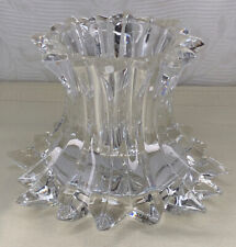 PartyLite Aurora Pillar Candle Holder of Crystal Reversible 1.
