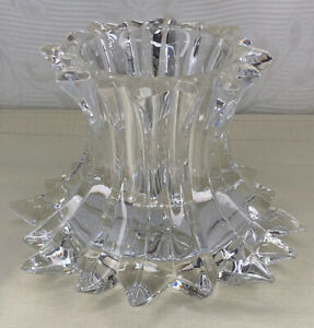 PartyLite Aurora Pillar Candle Holder of Crystal Reversible.