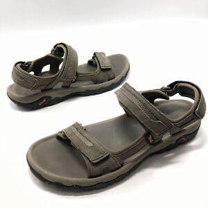 ✅💟✅@ Mens Teva 1002433 Hudson Athletic Sandals Sz 12 Eu45.5 Gray Suède