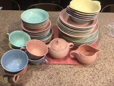 35+ Pieces Of Vintage LuRay Pastel Dinnerware