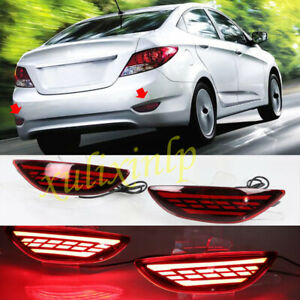 For Hyundai 2012-2017 Accent Sedan LED Brake Lights/Turn Lights/Fog Lights 2pcs
