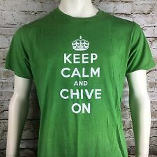 Keep Calm And Chive On Official Green Men's Large Shirt Sleeve T-Shirt