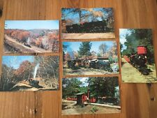 Vintage WISCONSIN DELLS Color Postcards Steam TRAINS Lot of 6