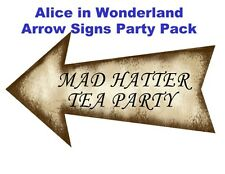 Alice in Wonderland 10 x DIY Arrow Sign Prop Party Pack Birthday Wedding Party