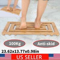 60x35cm Bathroom Bamboo Floor Duck board Mat SPA Anti Slip Bamboo Pad Shower Mat