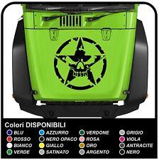 adesivo stella teschio cofano Jeep Wrangler JK 2 stickers renegade wrangler jk