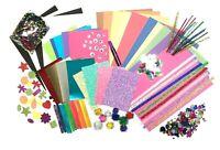 GLITTER Childrens ART & CRAFT Set Kids Creative Crafting Supplies Activity Pack