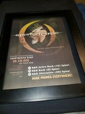 A Perfect Circle Weak & Powerless Rare Original Radio Promo Poster Ad Framed! #2