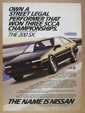 1986 Nissan 200SX 200-SX color photo vintage print Ad