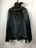 Adult Vampire Shirt and Cape Set Black Halloween Costume Size Medium