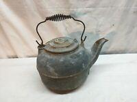 Antique  No. 8 Cast Iron Teapot Tea Kettle
