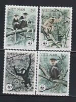 AK38 - ANIMAL KINGDOM STAMPS VIETNAM 1987 GIBBONS APES WWF MNH