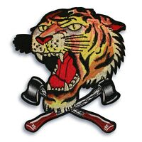 Large 9.5x8.5 inch Tiger and axes patch, Iron on or sew on , shipped from USA