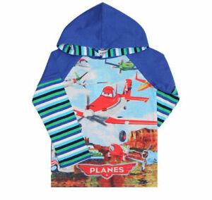 Planes boys blue 100% cotton Spring/Autumn hoodies Top (18-24 Months)