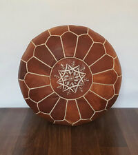 FLASH Moroccan Leather Ottoman Pouffe Pouf Footstool In