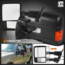 1999-2016 Ford F250 SuperDuty MANUAL Telescoping Tow Mirrors Signal Lights 2008